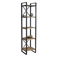 Bookcases, racks and shelves