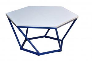 Столик журнальный Лофт шестигранный