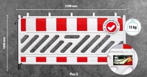Мобильный пластиковый защитный барьер Pro-S
