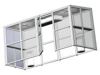 Кабина для курения Люкс на алюминиевом каркасе