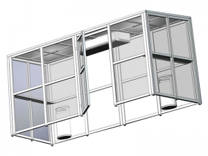Lux smoking cabin on an aluminum frame