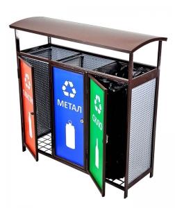 Контейнер модульный для раздельного сбора мусора