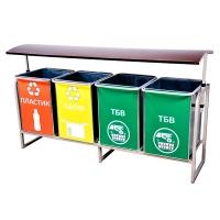 Контейнер для роздільного збору сміття на 400 л