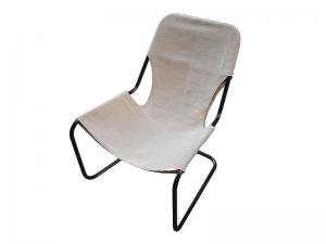 Кресло Лофт с кожаной накидкой