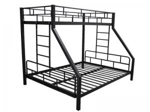 Кровать трехспальная двухярусная
