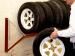 Полка для хранения четырех колес