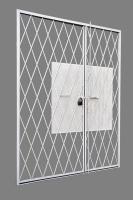 Решетка защитная дверная двухстворчатая