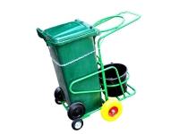 Тележка для уборки на три бака 120 литров