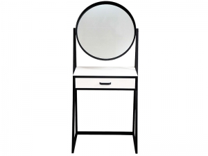 Косметический столик с круглым зеркалом